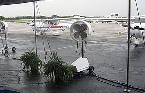 evaporative cooling airport